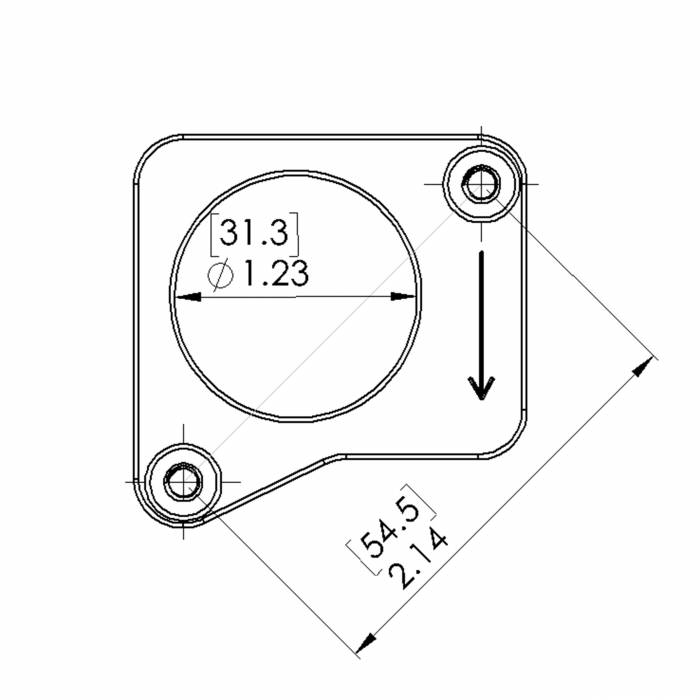lexus es300  es330  is300  rx330 mass air flow sensor flange