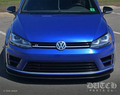 Dutch Parts Co. - VOLKSWAGEN MK7 GOLF R FRONT BUMPER SPLITTER