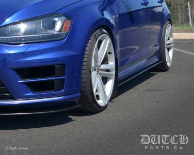 Dutch Parts Co. - VOLKSWAGEN MK7 GTI/R SIDE SKIRT SPLITTERS