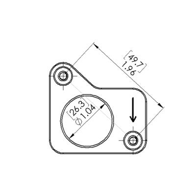 Honda Civic Si 2.0L Mass Air Flow Sensor Flange