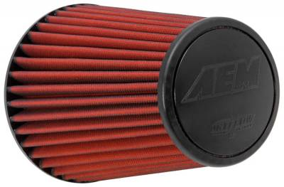 "Air Intake Components - AEM Dryflow Air Filters - AEM Induction Systems - 6.0"" AEM 21-2099DK DryFlow Air Filter"