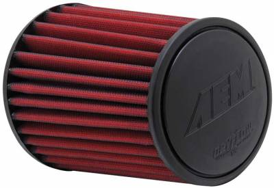 "Air Intake Components - AEM Dryflow Air Filters - AEM Induction Systems - 3.25"" AEM 21-2113DK DryFlow Air Filter"