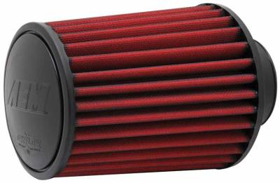 "Air Intake Components - AEM Dryflow Air Filters - AEM Induction Systems - 2.75"" AEM 21-2027DK DryFlow Air Filter"