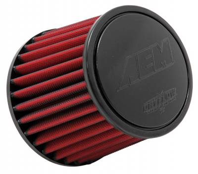 "Air Intake Components - AEM Dryflow Air Filters - AEM Induction Systems - 3.5"" AEM 21-204DK DryFlow Air Filter"