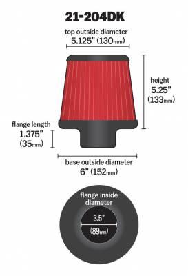 AEM 21-204DK DryFlow Air Filter