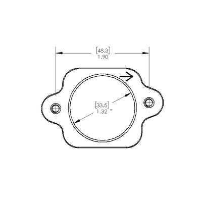 Ford 2008-2010 F-250, F-350, F450 6.4L Powerstroke Mass Air Flow Sensor Flange