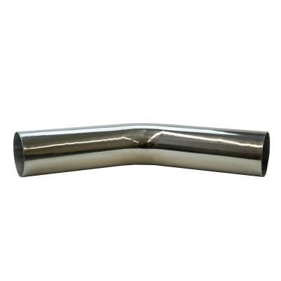 """3.5"""" Mandrel Bent Aluminum 45° Bend"""